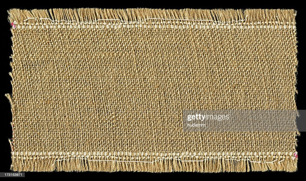 Burlap textured background with full frame : Stock Photo