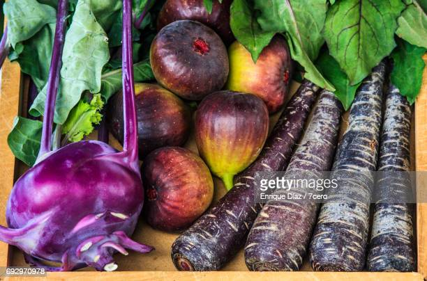 Burleigh Farmer's Market Purple Vegetables Close Up