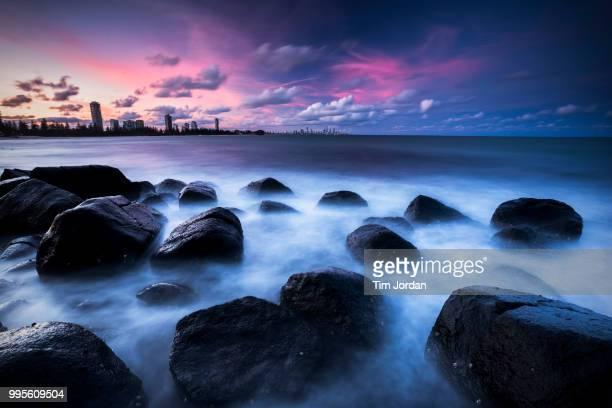 Burleigh Heads Sunset Over the Rocks
