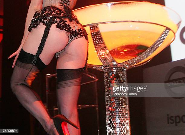 Burlesque and Fetish Star Dita von Teese performs onstage prior to the GQ Ispovision Style night on February 5 in Munich Germany