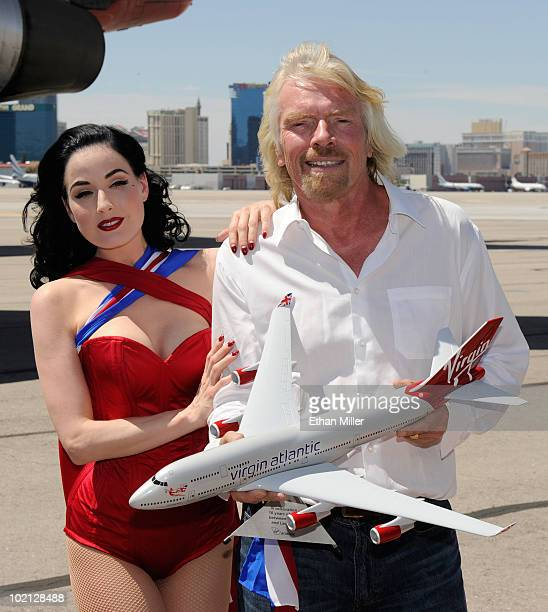 Virgin Atlantic Richard Branson Stock Photos And Pictures