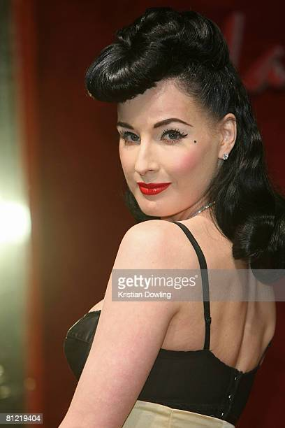 Burlesque artist Dita Von Teese attends the Dolce Gabbana party at Baoli Port Canto during the 61st International Cannes Film Festival on May 23 2008...