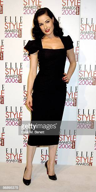 Burlesque artist Dita von Teese poses in the Awards Room at the ELLE Style Awards 2006 the fashion magazine's annual awards celebrating style at the...