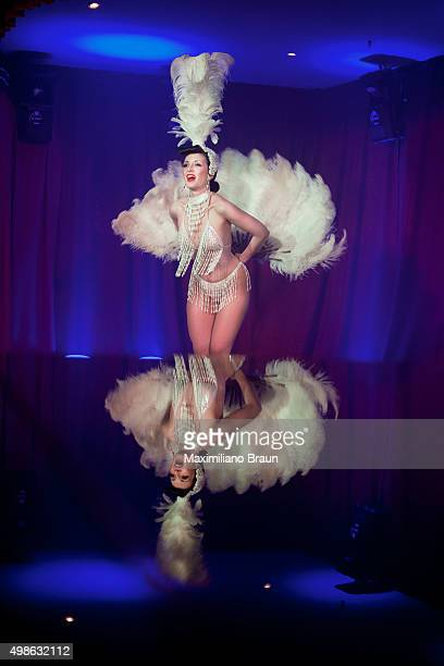 Burlesque artist Honey Lulu performs her 'white' routine at the Tassel Club The Tassel Club runs a deal with Proud Cabaret in which they have the use...