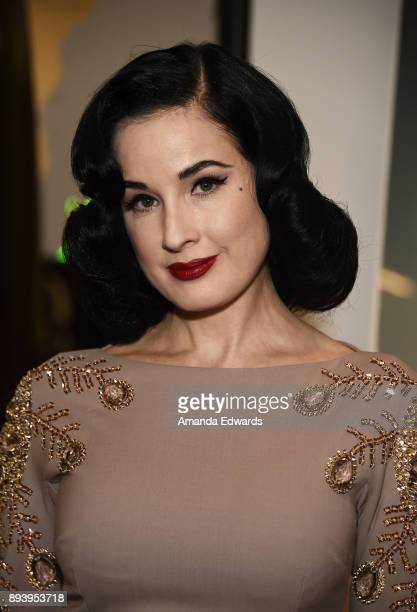 Burlesque dancer Dita Von Teese and luxury fragrance brand Heretic Parfum launch their candle and fragrance collaboration Scandalwood at Maxfield on...