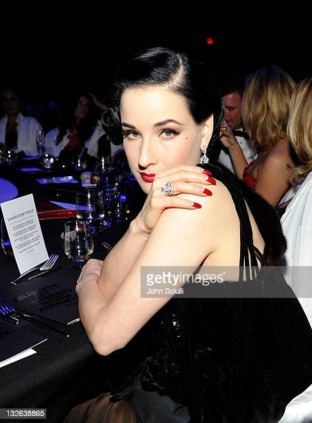 Burlesque dancer Dita Von Teese attends 2011 MOCA Gala An Artist's Life Manifesto Directed by Marina Abramovic at MOCA Grand Avenue on November 12...