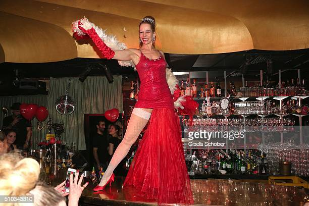 Burlesque dancer during the 'Drunk In Love' Party hosted by Constantin Film and zLabels on February 14 2016 in Berlin Germany