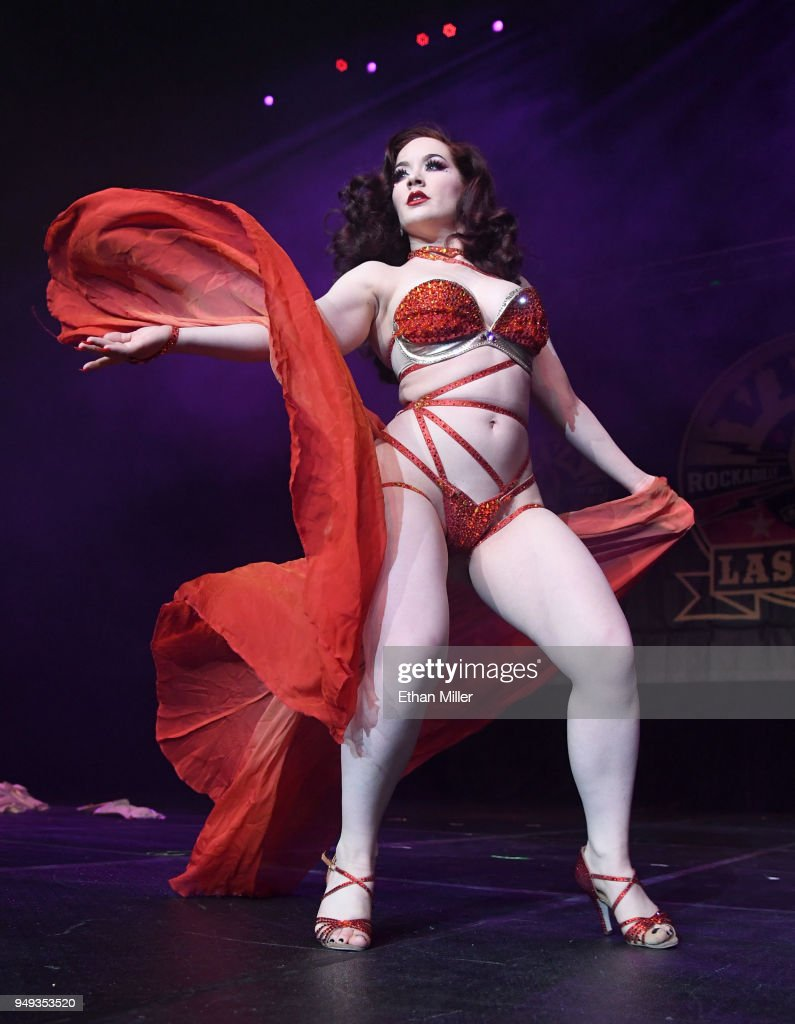 Elvira Hosts The Viva Las Vegas Rockabilly Weekend's Burlesque Showcase