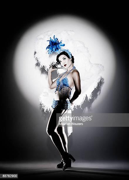 burlesque dancer - burlesque striptease stock-fotos und bilder