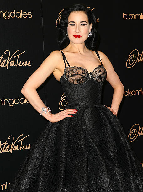 58e248a0dd3 Burlesque dancer designer Dita Von Teese launches her new lingerie  collection at Bloomingdale s Century City