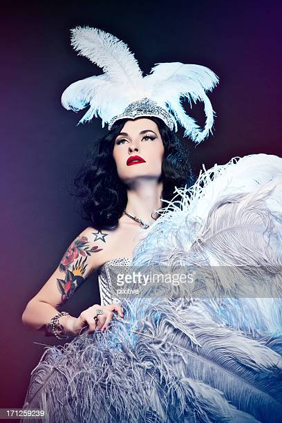 burlesque diva - burlesque stock pictures, royalty-free photos & images
