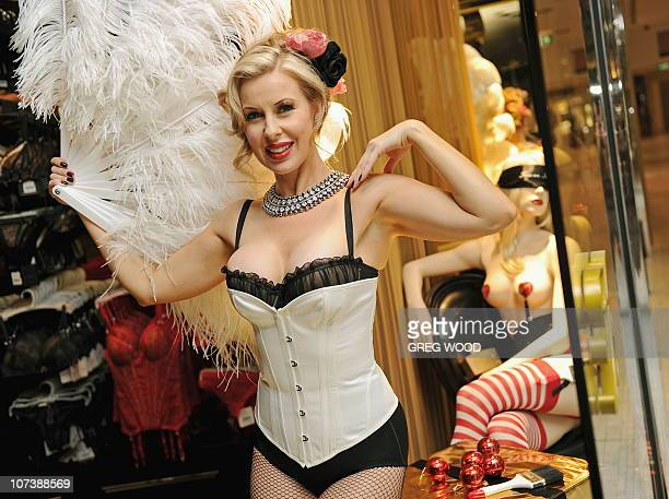 Burlesque femme fatale Rachel St James adds some glamour to a media preview on the eve of a the launch of the new Honey Birdette store at the newly...