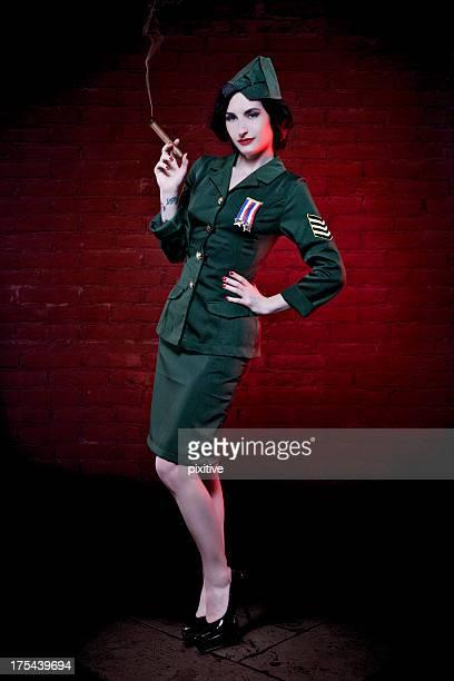 Burlesque girl soldier