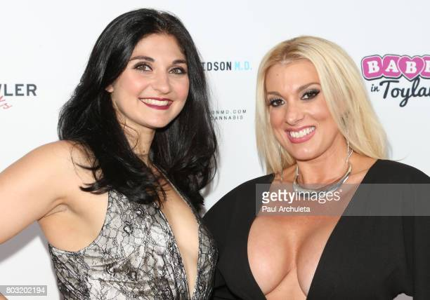 Burlesque Magician Suzie Malone and Sarah Brycemann attend the 2nd annual Babes In Toyland Support Our Troops charity event at Avalon on June 28 2017...