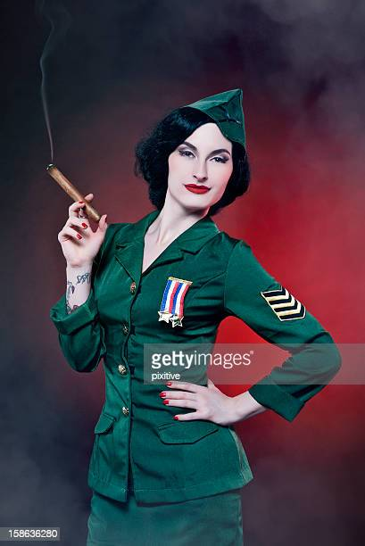 Burlesque military portrait