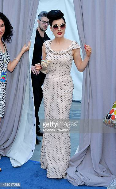 041f88536388 Burlesque performer Dita Von Teese arrives at the Hollywood Bowl Opening  Night and Hall of Fame