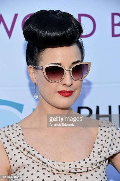 3198e11b1bf3 Burlesque performer Dita Von Teese arrives at the Hollywood Bowl Opening  Night and Hall of Fame