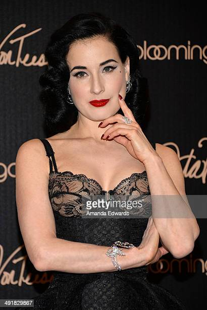 Burlesque performer Dita Von Teese launches her lingerie collection at Bloomingdale's Century City on May 17, 2014 in Century City, California.
