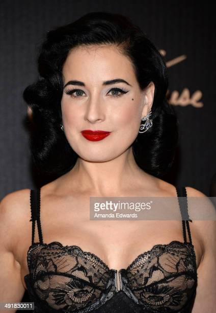 9ec5d5e242a Burlesque performer Dita Von Teese launches her lingerie collection at  Bloomingdale s Century City on May 17