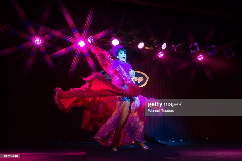 Burlesque Performer Ginger Valentine Performs At The Saturday Spectacular  Show During The 13th Annual New York