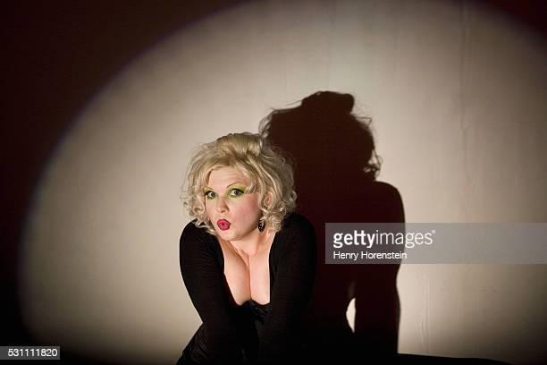 Burlesque Performer in Spotlight