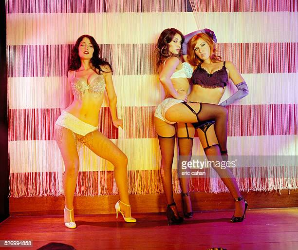 Burlesque Performers Tracy Phillips Carolina Cerisola and Jade Ruggiero