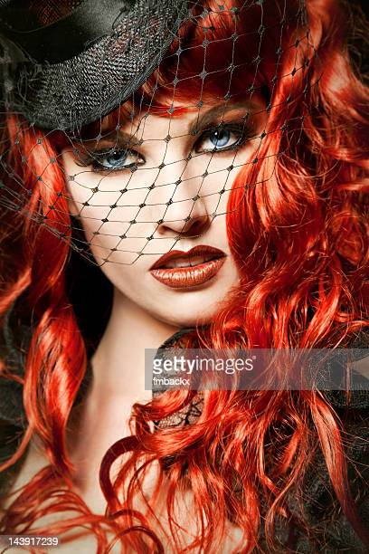 burlesque redhead - burlesque stock pictures, royalty-free photos & images