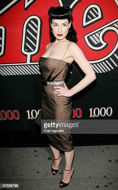 Burlesque star Dita Von Teese attends Rolling Stone Magazine's 1000th cover celebration May 04 2006 in New York City New York