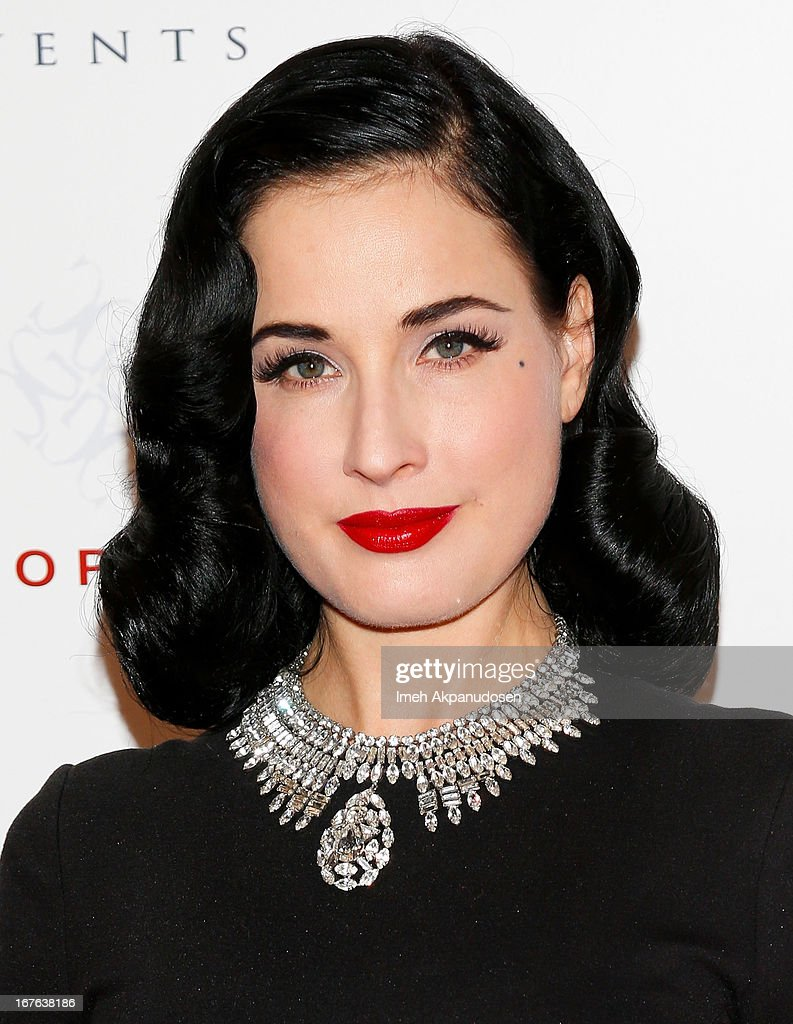 Burlesque star Dita Von Teese attends the 7th Annual Britweek: BritWeek Design Icon Award Presentation at Christopher Guy West Hollywood Showroom on April 26, 2013 in West Hollywood, California.