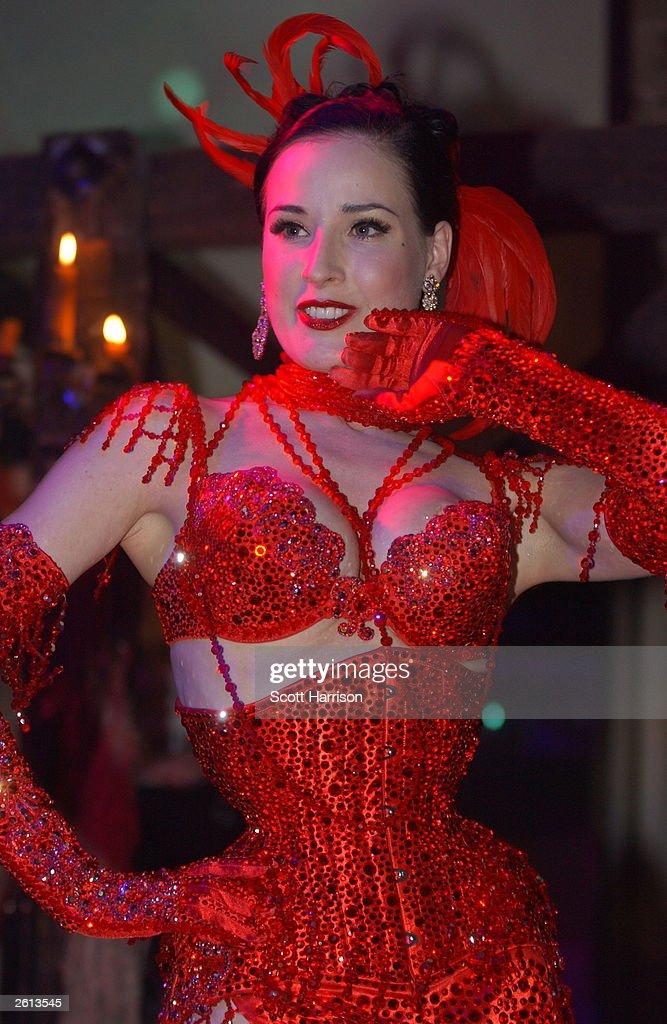 2c88016b81ab Burlesque star Dita Von Teese performs October 17