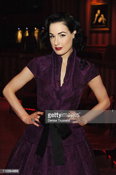Burlesque superstar Dita Von Teese attends the first American auditions of MGM Grand's Crazy Horse Paris at MGM Grand's Crazy Horse Paris on March 6,...