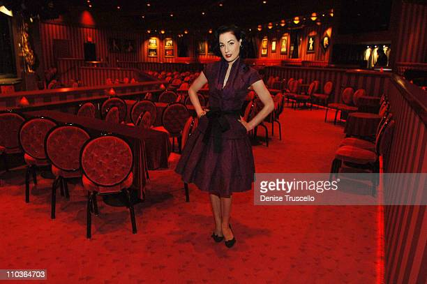 Burlesque superstar Dita Von Teese attends the first American auditions of MGM Grand's Crazy Horse Paris at MGM Grand's Crazy Horse Paris on March 6...