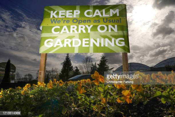 Burley Dam Garden Centre continues to trade and attract customers using the slogan 'KEEP CALM CARRY ON GARDENING' during the ongoing COVID19...
