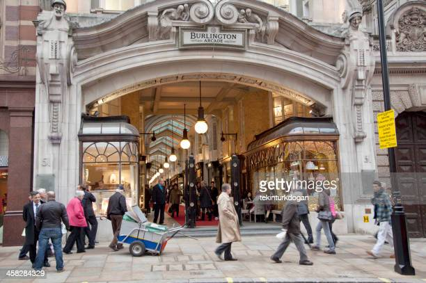 burlington arcade at picadilly street of london england UK