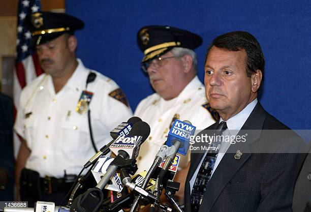 Burlington County New Jersey Prosecutor Robert Bernardi speaks during a media conference with Maple Shade Police officials about the overnight...