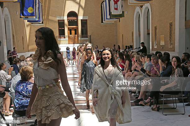 Burlington High School students showed off their fashion creations at the first ever fashion exhibit at the State House Fashion on the Hill designed...
