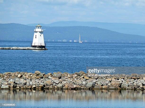 burlington lighthouse - burlington vermont stock photos and pictures