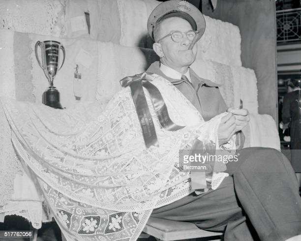 Burly mailman wins male crochet title New York New York Anthony White a burly cigarsmoking 53 year old mailman from Portland Oregon looks like he's...