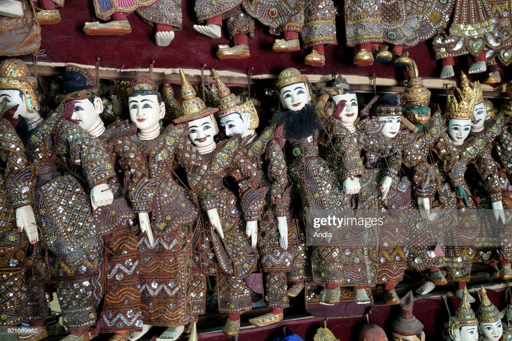 Myanmar: traditional puppet. : News Photo