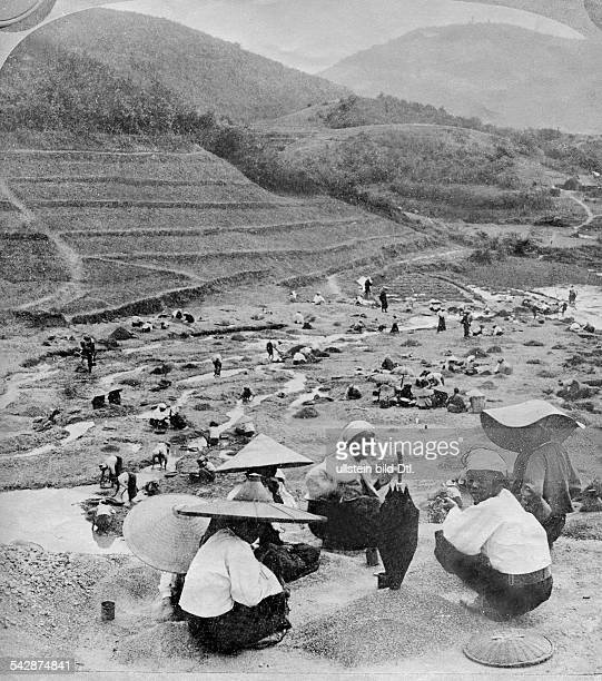 Burma people digging for rubies date unknown probably around 1900