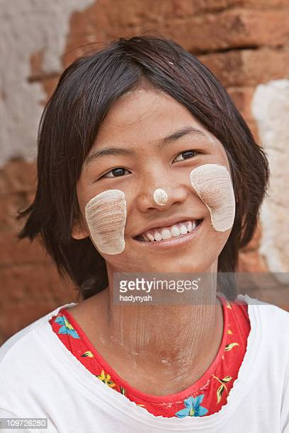 burmese girl - myanmar stock pictures, royalty-free photos & images