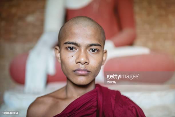 Burmese Novice Monk Myanmar Portrait