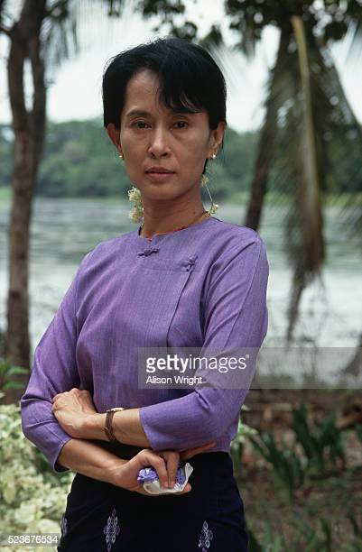 burmese political leader aung san suu kyi - laureate stock pictures, royalty-free photos & images