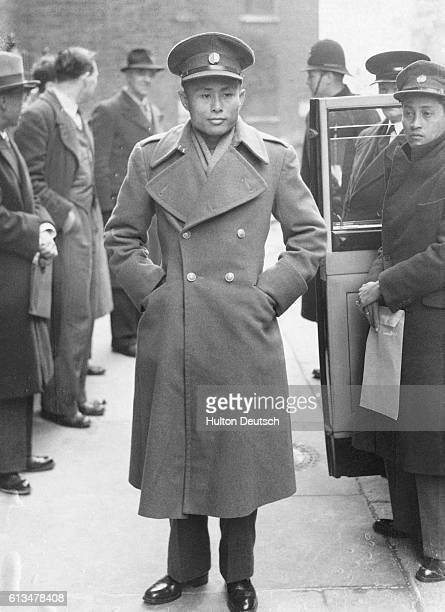Burmese politician U Aung San arrives with a delegation at Downing Street to discuss the county's independence 1947