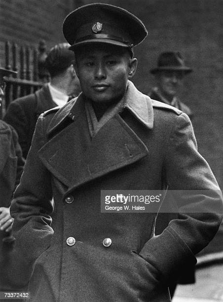 Burmese revolutionary and statesman General Aung San arrives at Number 10 Downing Street to negotiate independence for Burma with the British...