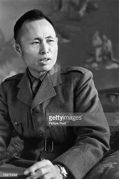 Burmese revolutionary and statesman General Aung San during a visit to England 1947 Original Publication Picture Post 4597 U Aung San unpub