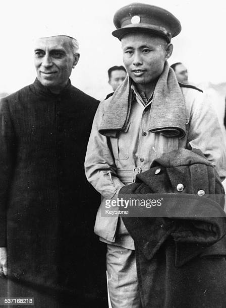 Burmese Vice President Aung San and Prime Minister of India Pandit Nehru in Delhi January 7th 1947