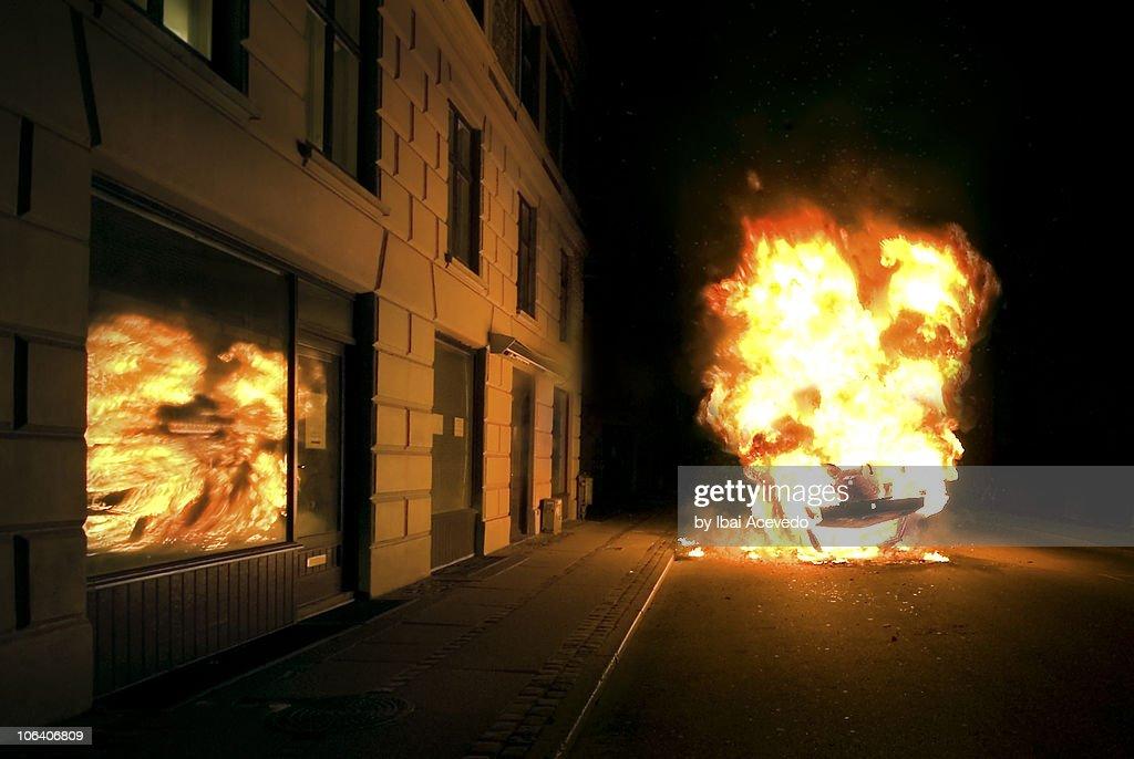 Burn night : Stock Photo