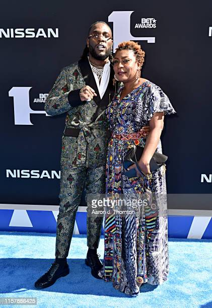 Burna Boy and Bose Ogulu attend the 2019 BET Awards at Microsoft Theater on June 23 2019 in Los Angeles California