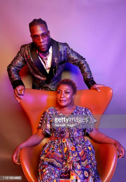Burna Boy and Bose Ogulu pose for a portrait during the BET Awards 2019 at Microsoft Theater on June 23 2019 in Los Angeles California